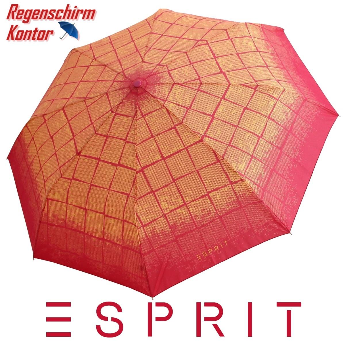 ESPRIT Regenschirm Minischirm Damen Karo