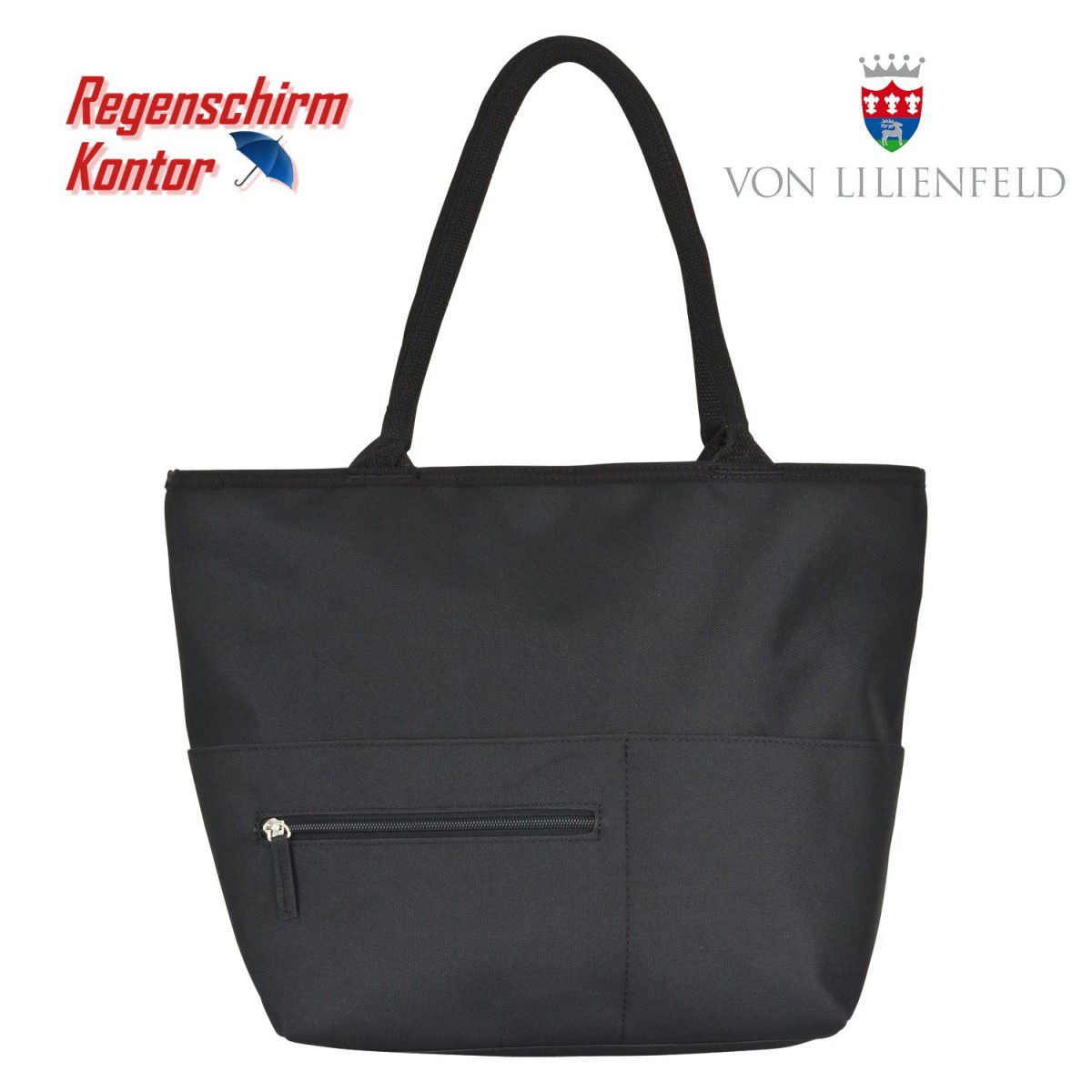 Tasche für Damen Shopper-Tasche schwarze Katzen