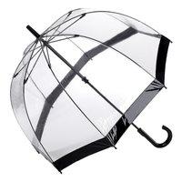 Regenschirm transparent durchsichtig Fulton schwarz