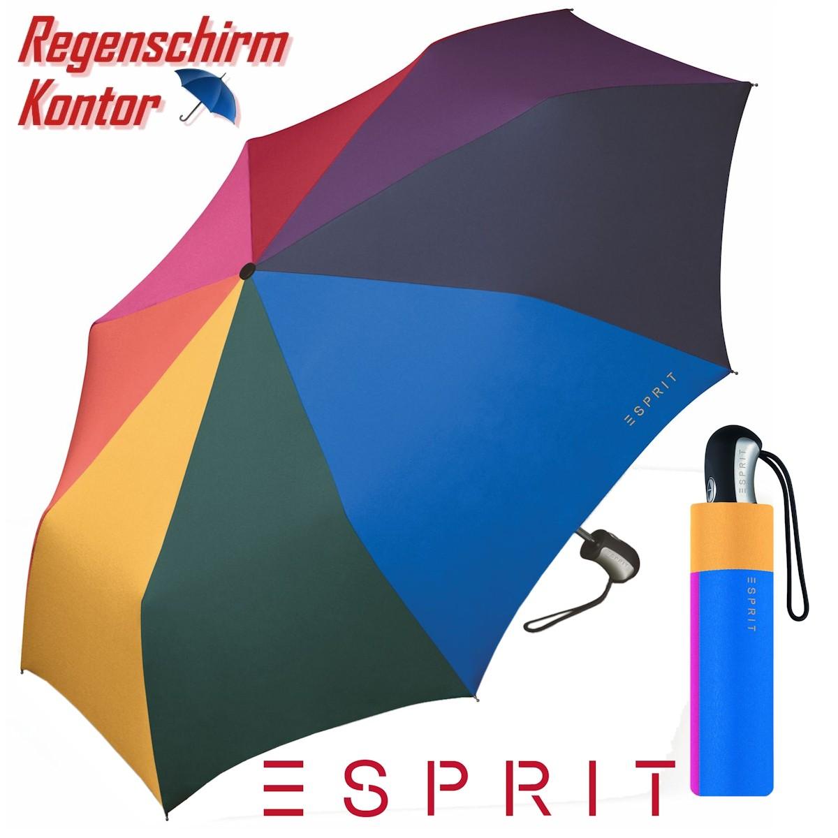 Golfschirm + Taschenschirm Regenbogen Esprit
