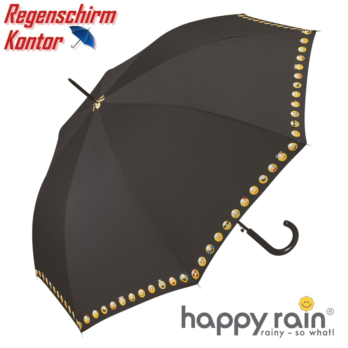 Stockschirm Damen Emoticon