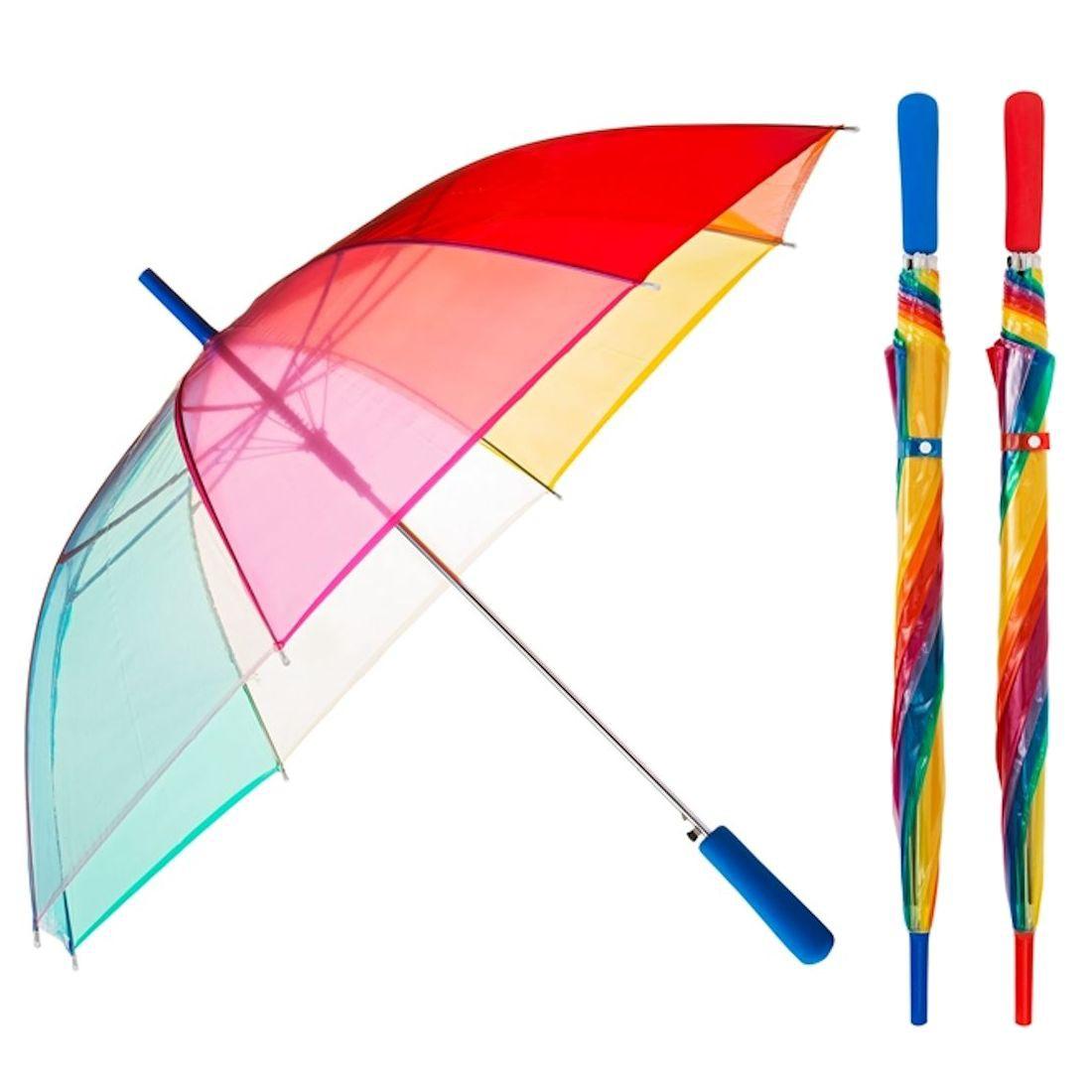 Regenschirm Transparent Durchsichtig Regenbogen