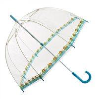 Glockenregenschirm Damenregenschirm Transparentschirm Designerschirm blau