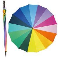 XXL Golfregenschirm Regenbogenschirm Partnerschirm Portierschirm Multicolour