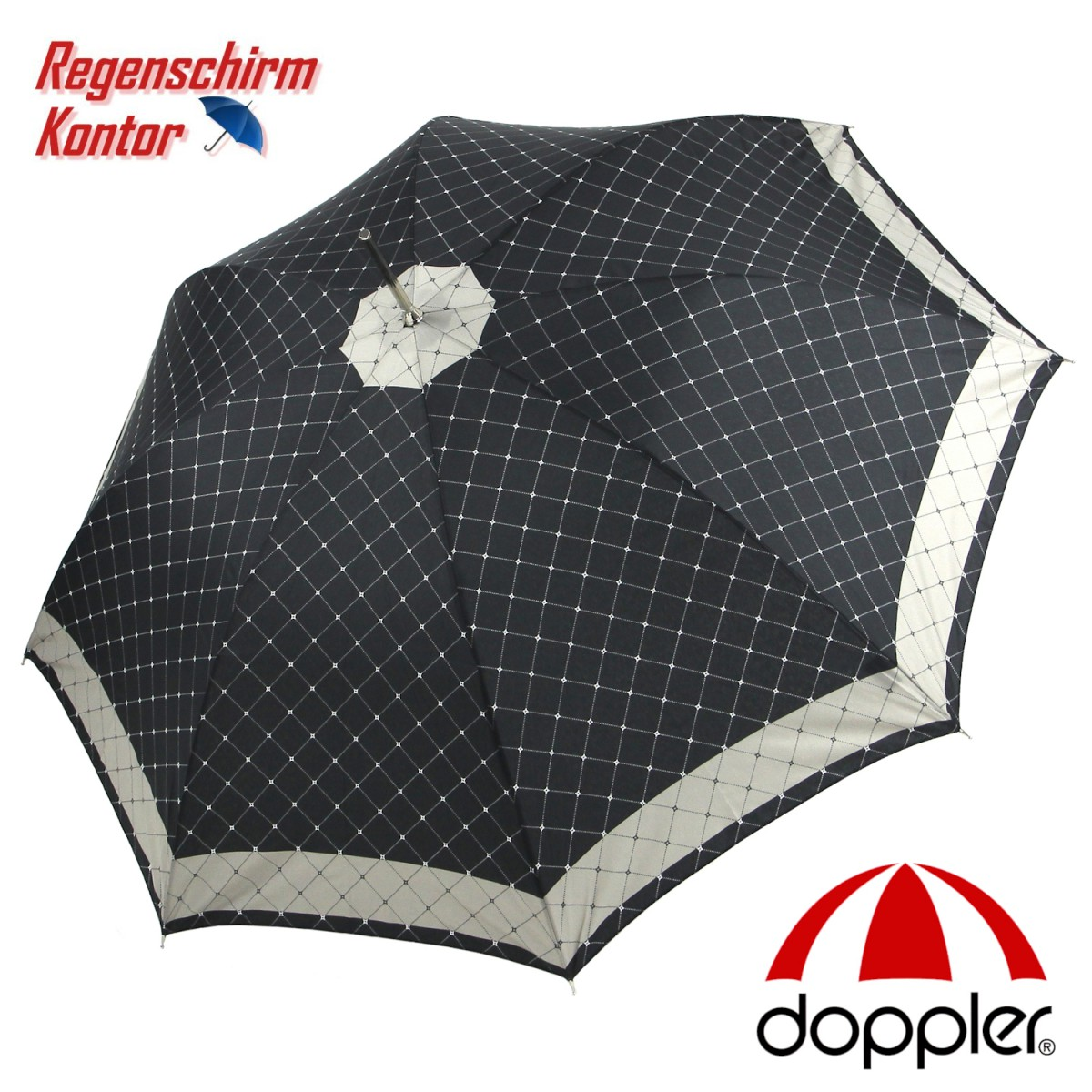 Regenschirm  Stockschirm Carbonsteel Damen