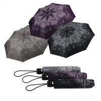 Taschenregenschirm Auf-Zu-Automatik Minischirm Elegance schwarz