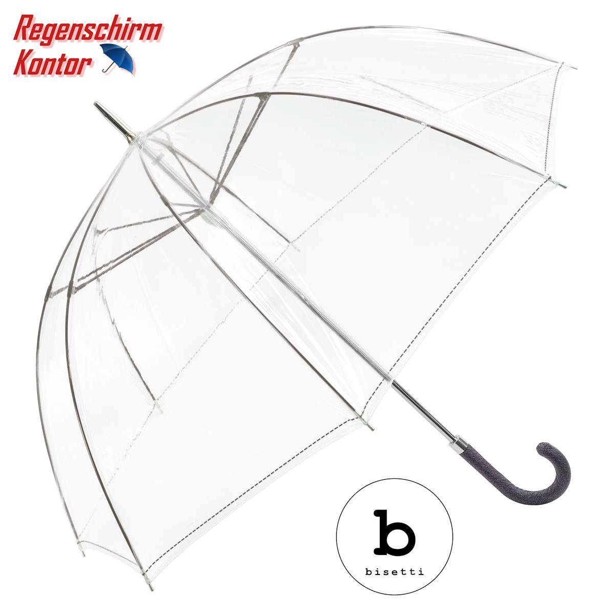 Bisetti Regenschirm transparent durchsichtig