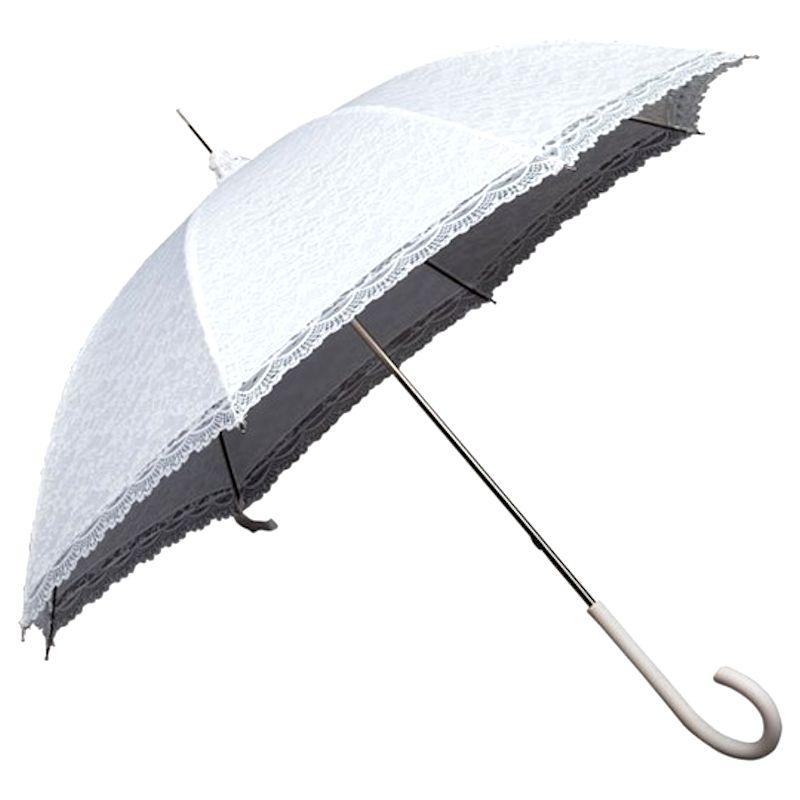 Regenschirm Hochzeit Spitze weiß