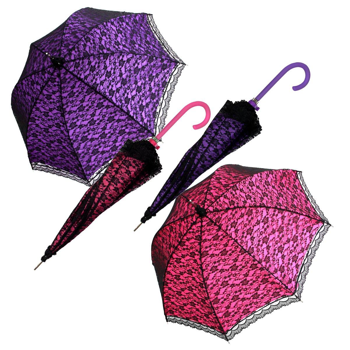 Regenschirm Hochzeit Gothic Spitze