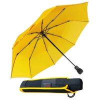 Trekkingschirm Taschenoutdoorschirm Wanderregenschirm Automatikregenschirm gelb