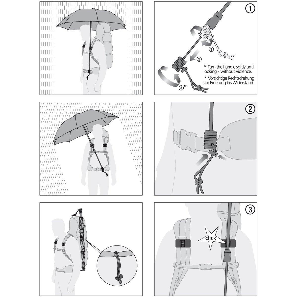 Regenschirm Trekking Swing Handsfree