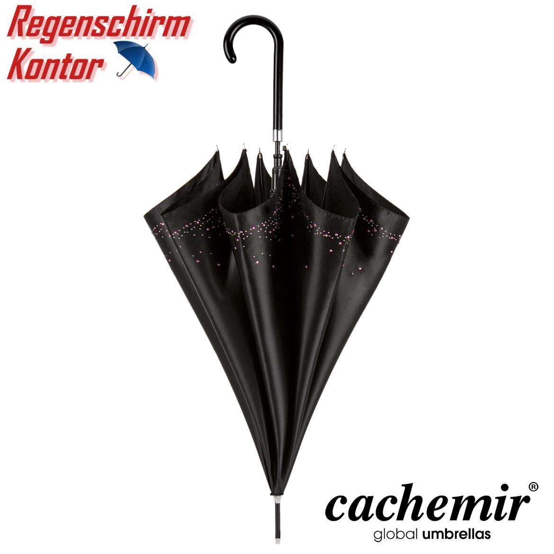 Regenschirm Damen Stockschirm Strass schwarz