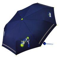 Kindertaschenregenschirm Jungenregenschirm Ritter dunkelblau