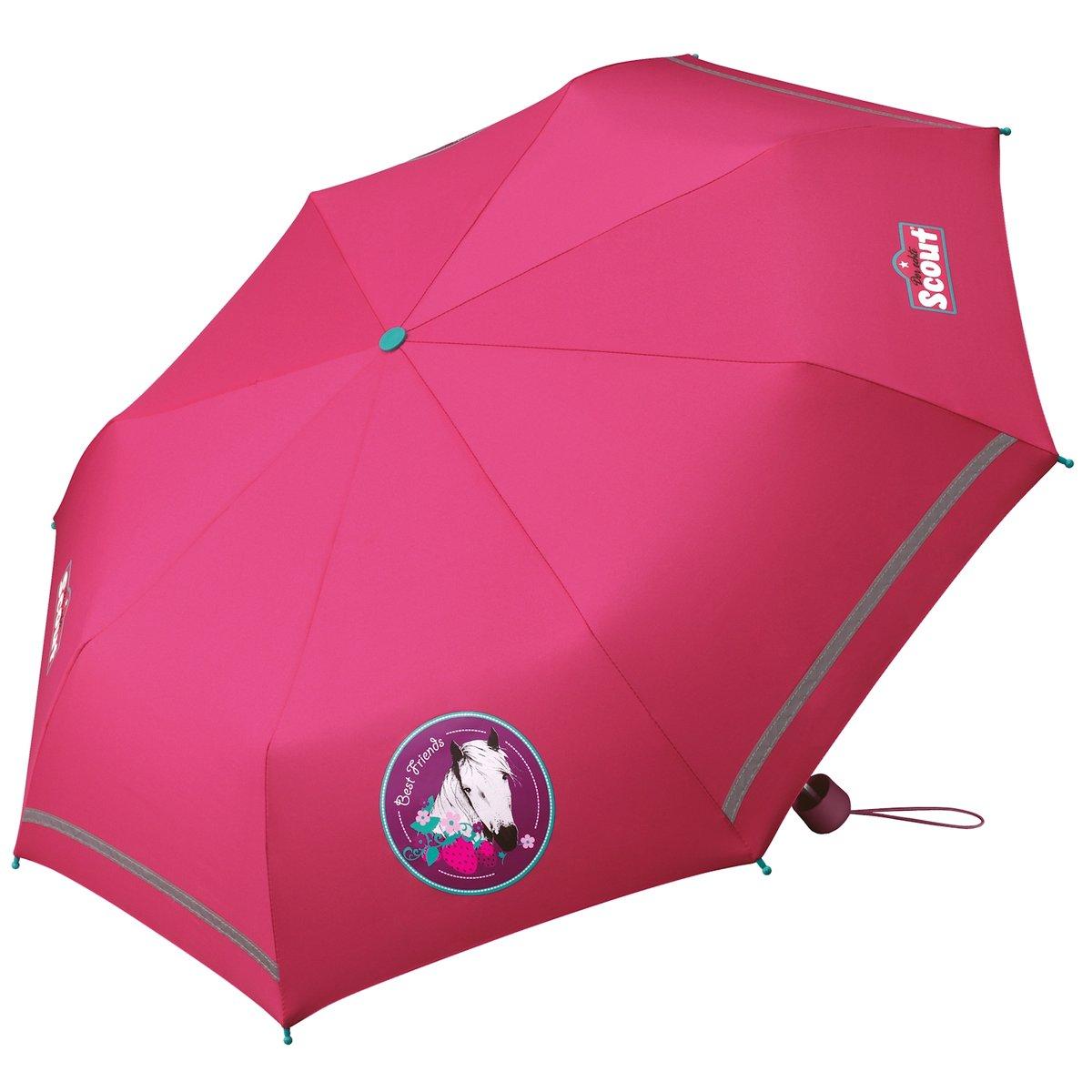Scout Regenschirm Taschenschirm  Pferd