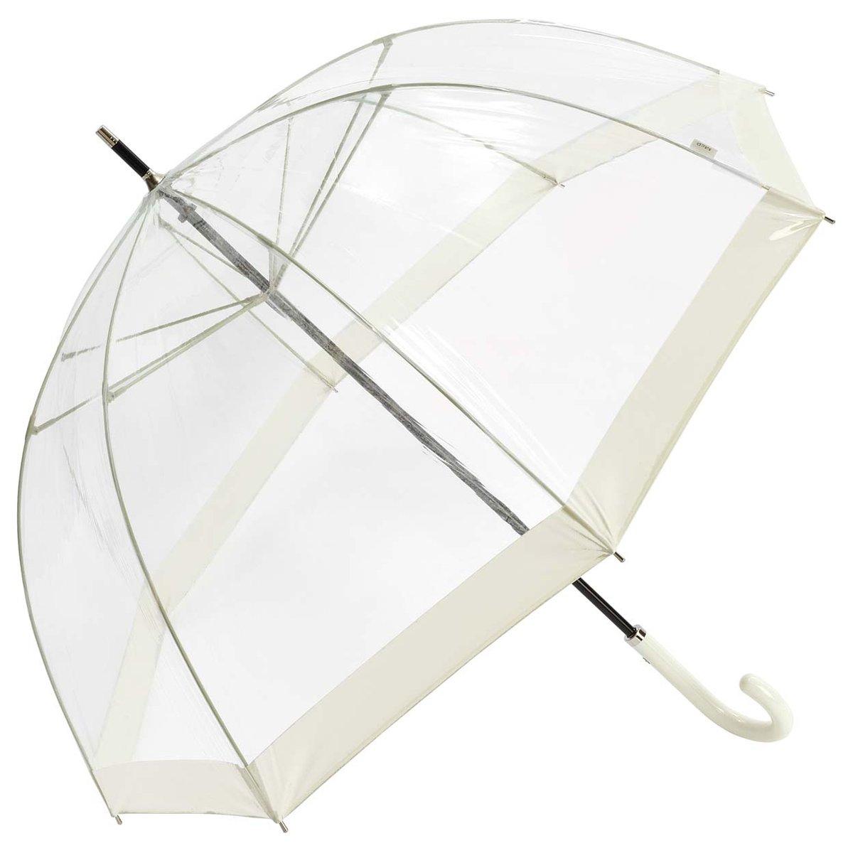 Regenschirm Transparent Durchsichtig Glockenschirm Kuppel Damenschirm Rot