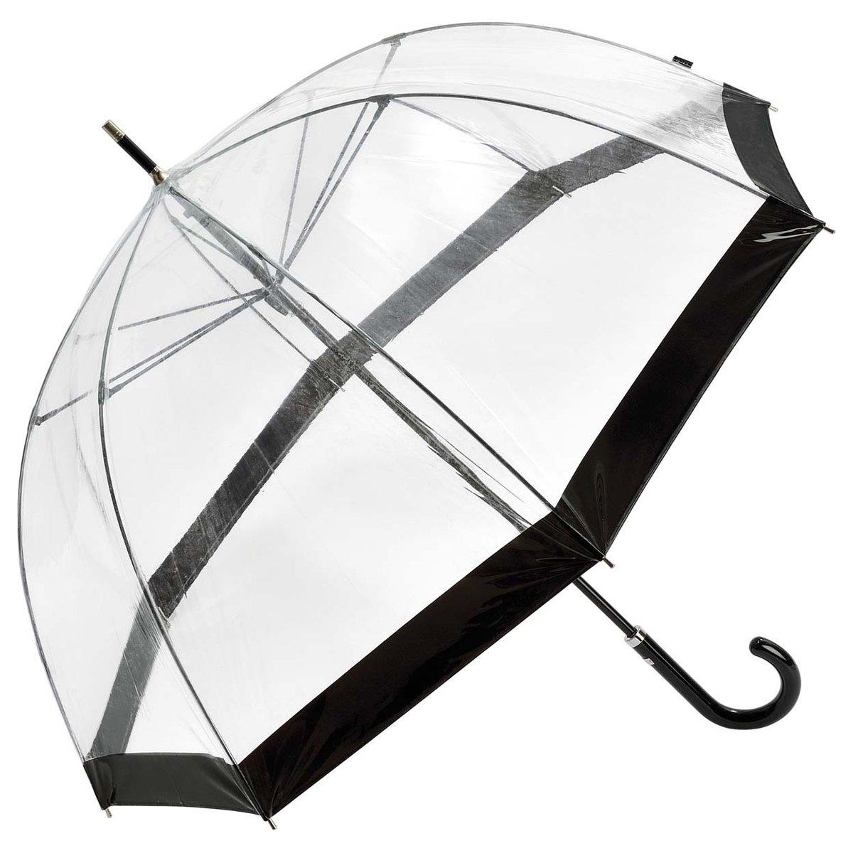 Regenschirm Glockenschirm transparent durchsichtig schwarz