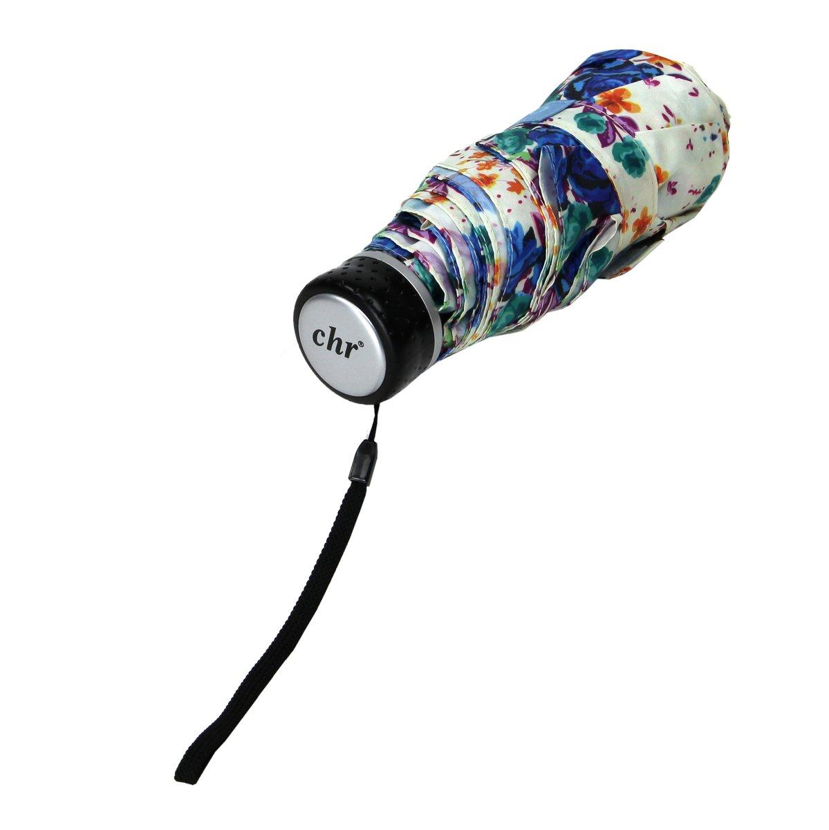 Cachemir Regenschirm Minischirm Damen blau