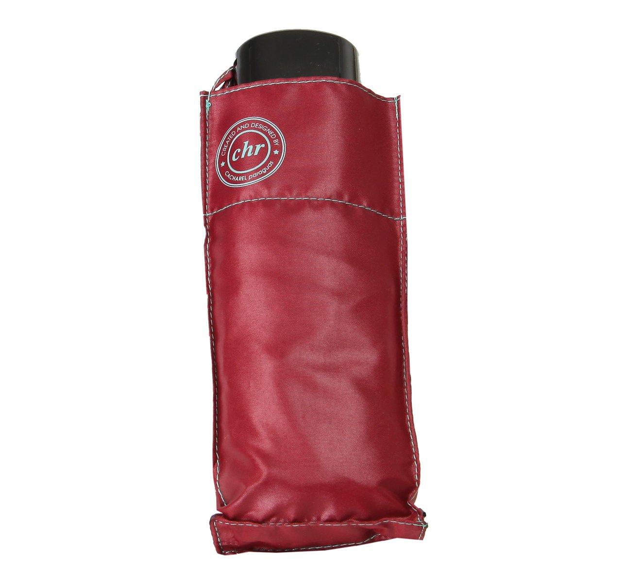 Cachemir Taschenschirm Mini Damen rot