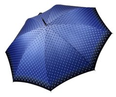 Damenmodestockschirm Regenlangschirm Zweifarbenschirmgriff Lady Automatic Balls blau