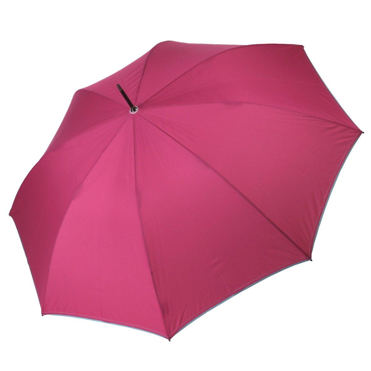 Stockschirm Damen Automatik Uni pink