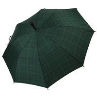 Stützregenschirm Gehstock Herren Damen Manuell Karo Dunkelgrün