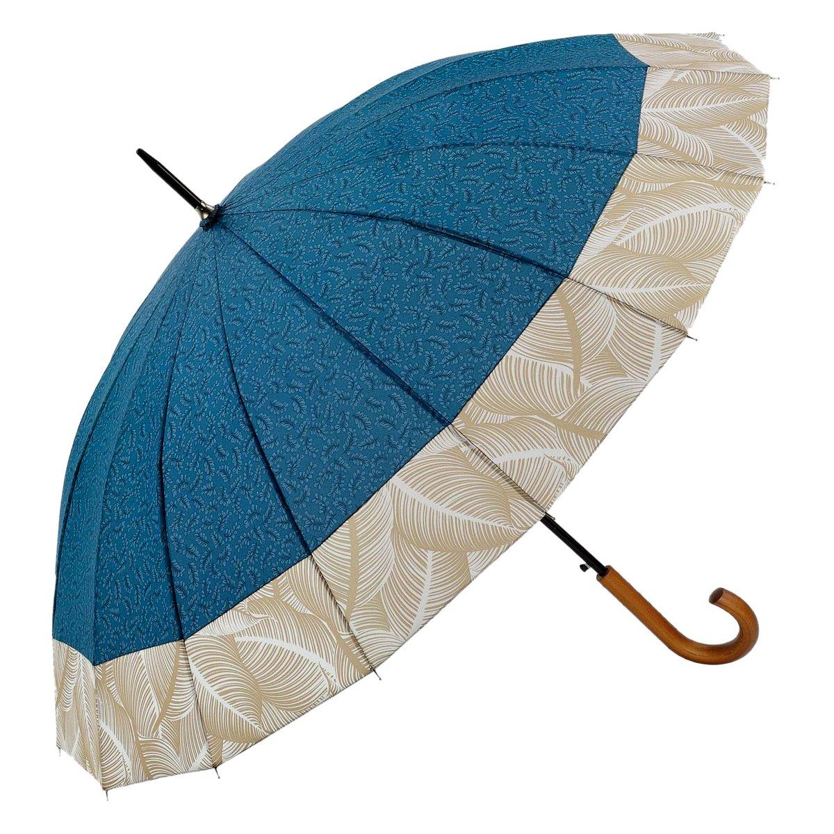 Regenschirm Stockschirm Damen Blau