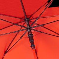 Damenherrenpartnerregenschirm Automatikstockschirm Umhängeregenschirm Schwarz / Orange