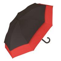 Damenherrenstockregenschirm Gleitmechanismusautomatikgolfschirm XXL schwarz rot