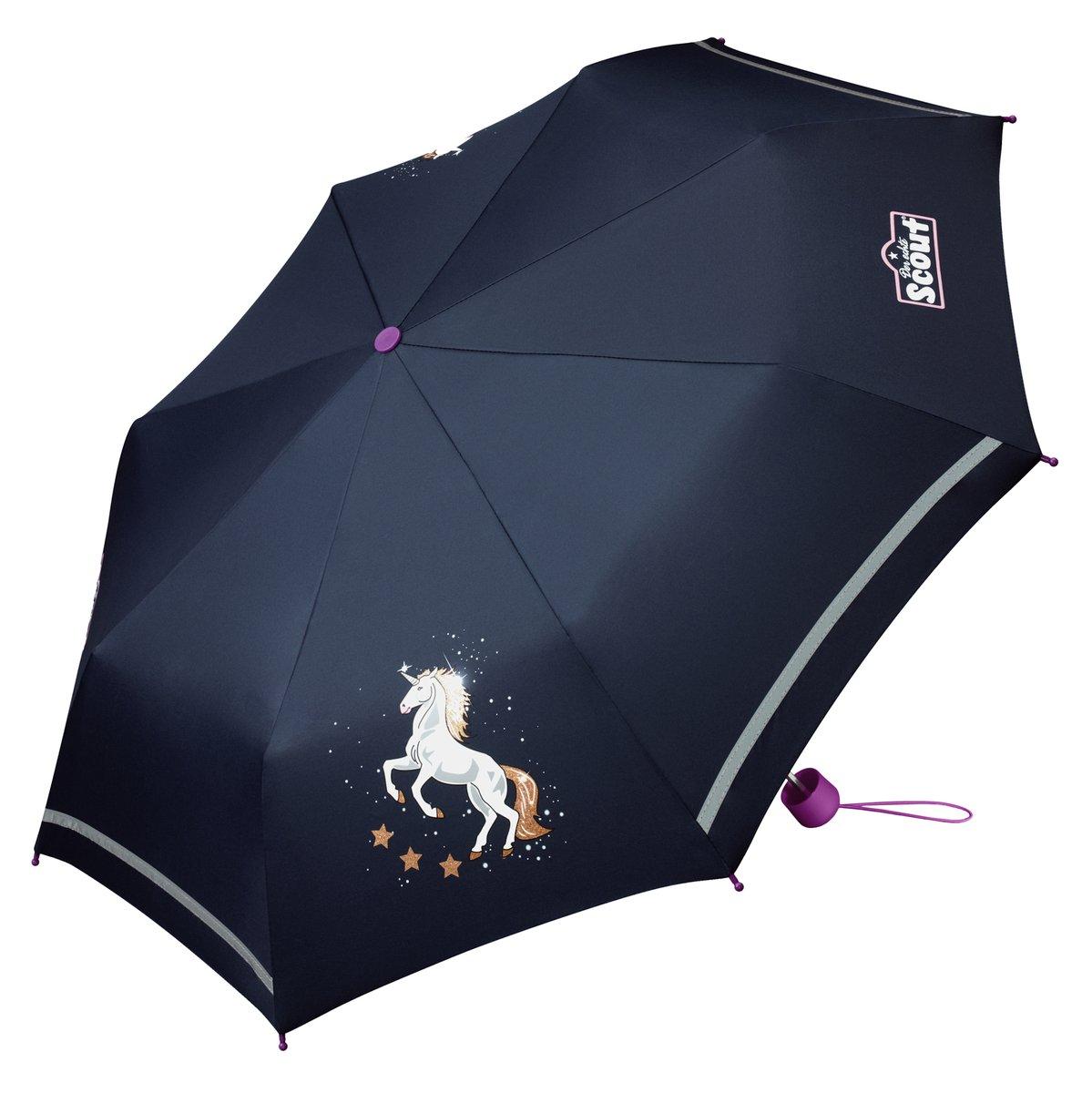 Scout Regenschirm Taschenschirm Mädchen Einhorn
