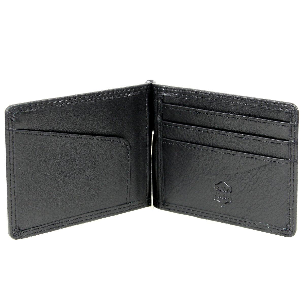 Dollarclip Geldklammer Geldbörse Leder schwarz