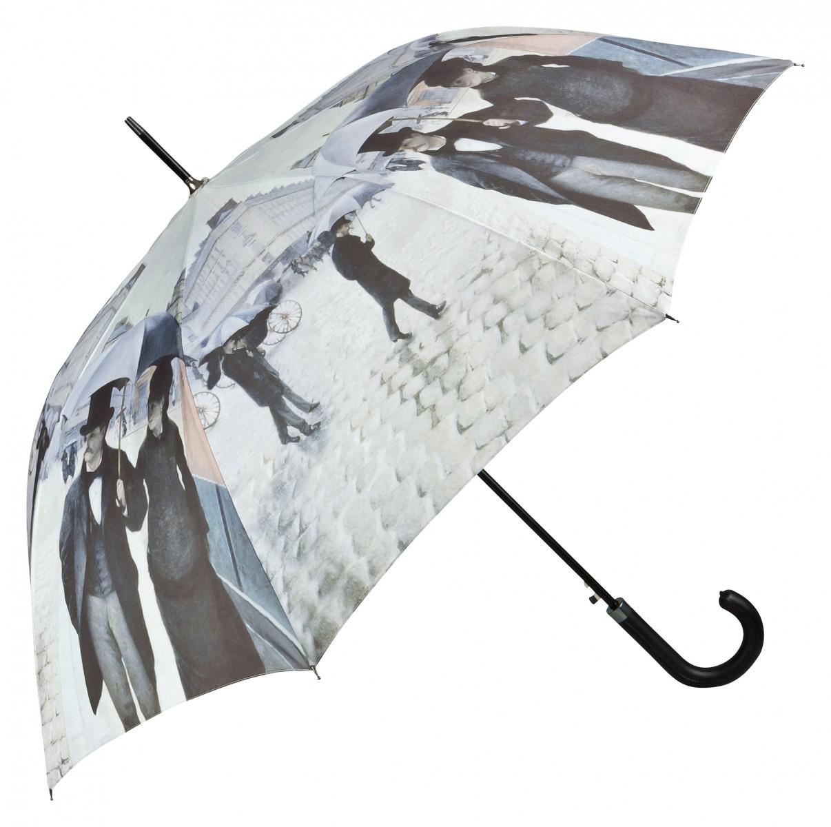 Regenschirm mit Motiv Caillebotte - Paris im Regen