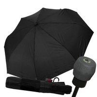 Regenschirm Trekkingschirm schwarz