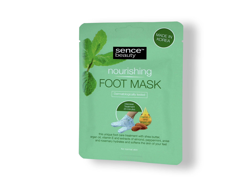 Fußmaske für sanfte Pflege müder Füße und Hydratisieren trockener Fußhaut