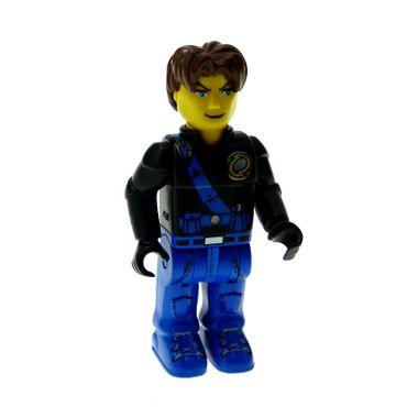1 x Lego brick  Minifigs 4 Juniors Jack Stone - Black Jacket Blue Legs Blue Sash 4611 js009