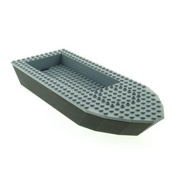 1 x Lego brick Black light gray Boat Hull Unitary 32 x 12 x 4 Complete Assembly 4669  47858c01