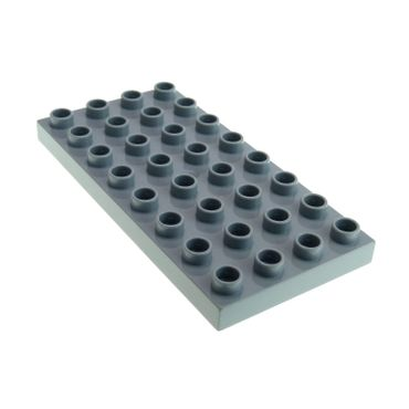 1 x Lego brick light bluish Gray Duplo Plate 4 x 8 for Set Cars / Thomas & Friends 6134 5555 4672