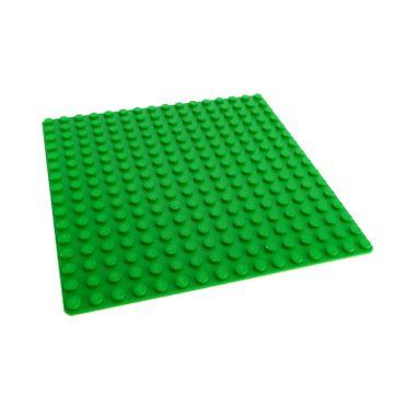 1 x Lego System Bau Basic Platte bright hell grün 16 x 16 Noppen 16x16 Rasen Gras Wiese bright green 7418 4114221 6098 3867