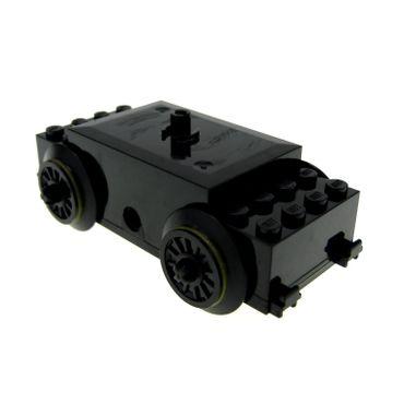 1 x Lego Electric Motor 9 V schwarz und Räder Zug Eisenbahn RC Passenger Train Motor geprüft 7898 7897 8866 x1688c01