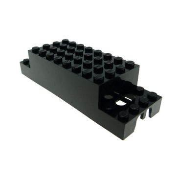 1 x Lego brick Black Electric, Motor 4.5V Type II 12 x 4 x 3 1/3 Upper Housing (Train) x469ba