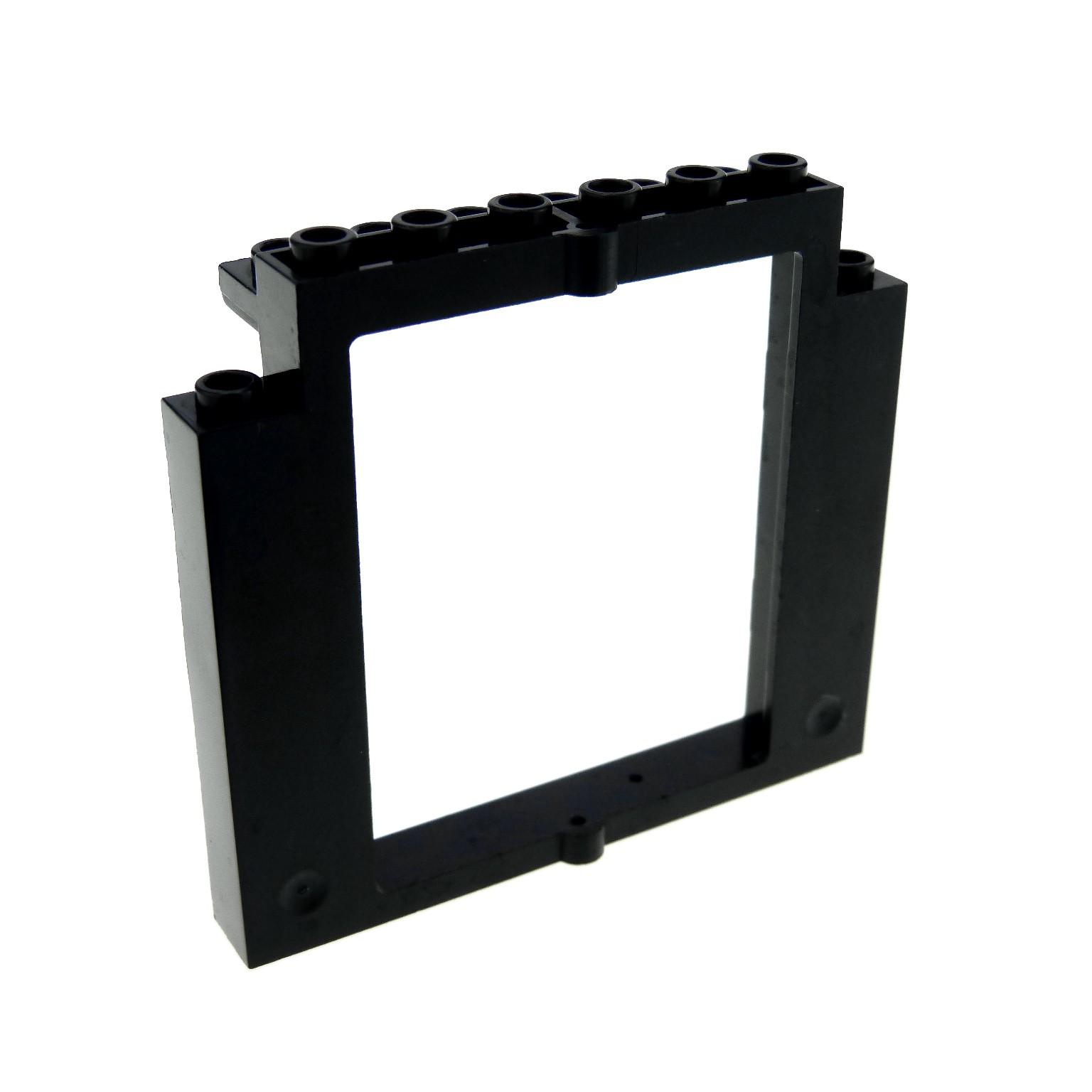 1 x Lego System Tür Rahmen schwarz 2x8x6 Castle Drehtür Burg Fenster ...