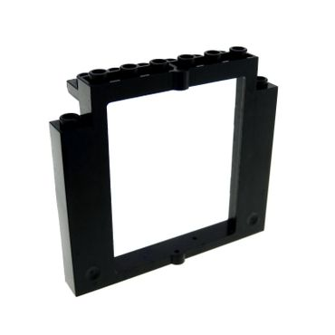 1 x Lego brick Black Door Frame 2 x 8 x 6 Swivel without Bottom Notches 40253