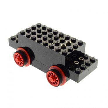 1 x Lego Electric Motor 4.5V Type I schwarz 12 x 4 x 3 1/3 und Räder Eisenbahn Zug Lok Train Motor geprüft bb06