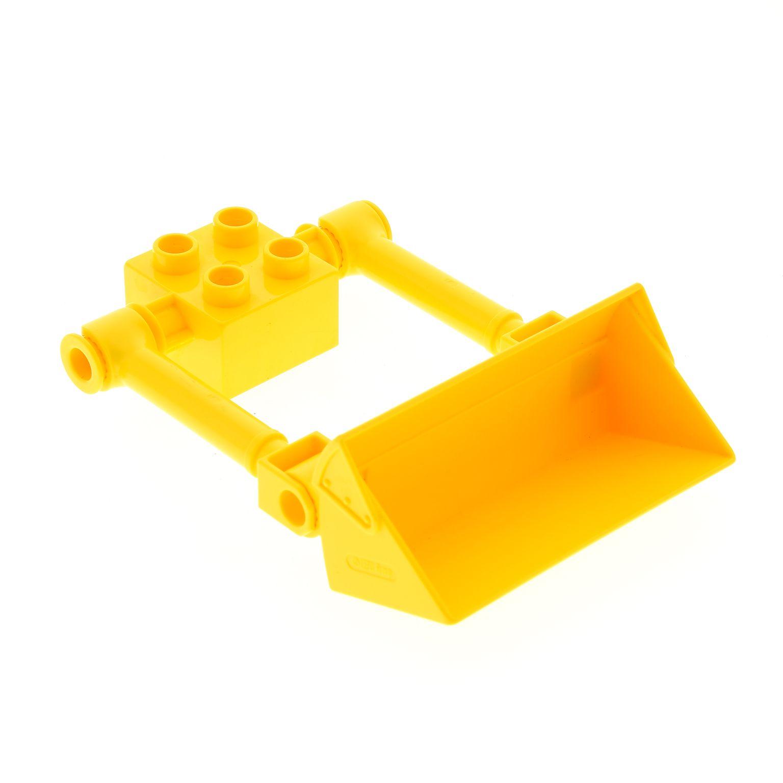 1 X Lego Brick Yellow Duplo Digger Bucket Big For Backhoe Scoop