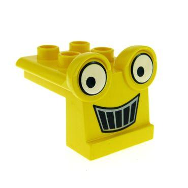 1 x Lego Duplo Bau Fahrzeug Front Gesicht gelb für Baggi Bob der Baumeister Figur Scoop 40668pb01