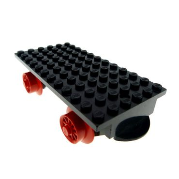 1 x Lego brick black Train Base 6 x 12 with Wheels x487