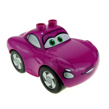 1 x Lego Duplo Fahrzeug Disney Pixar Cars Figur Holley Shiftwell magenta pink rosa Sport Coupe Set 6134 88760 88762c01pb15 98248pb01