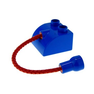 1 x Lego brick blue Duplo Creature Brick 2 x 2 Rounded with Rope Tail and Hole Connector 4419c01
