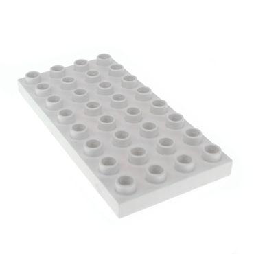1 x Lego Duplo Bau Basic Platte 4 x 8 weiss 4x8 8 x 4 Noppen für Set Schloss Sofia Disney 10525 10587 6154 10827 10826 10595 2663 4563573 10199 4672