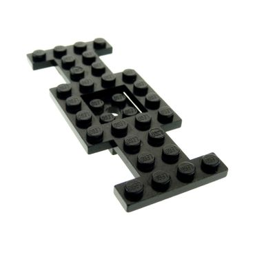 1 x Lego brick Black Vehicle Base 4 x 10 x 2/3 with 2 x 2 Recessed Center with Center Hole (Early Version) 4212a