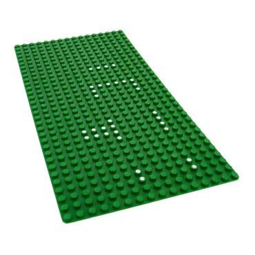 1 x Lego System Bau Basic Grund Platte grün flach 16x32 mit Markierung Noppen Wiese Rasen für Set 356/540 3857pb01